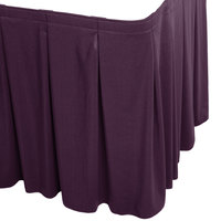 Snap Drape WYN5V1329-PURP Wyndham 13' x 29 inch Purple Continuous Pleat Table Skirt with Velcro® Clips