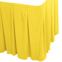 Snap Drape WYN5V1329-SUN Wyndham 13' x 29 inch Sunflower Continuous Pleat Table Skirt with Velcro® Clips