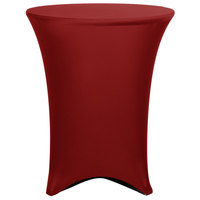 Marko EMB5026HT36046 Embrace 36 inch Round Burgundy Bar Height Spandex Table Cover