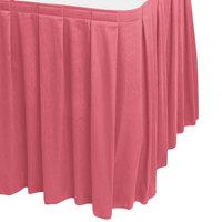 Snap Drape WYN3V1329-DUS Wyndham 13' x 29 inch Dusty Rose Box Pleat Table Skirt with Velcro® Clips