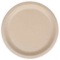 Eco Products EP-PW9 9 inch Round Wheat Straw Compostable Plate - 50/Pack