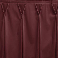 Snap Drape WYN6V1329-PLUM Wyndham 13' x 29 inch Plum Bow Tie Pleat Table Skirt with Velcro® Clips