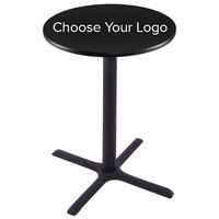 Holland Bar Stool 28 inch Round Logo Bar Height Pub Table