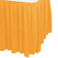 Snap Drape WYN3V1329-TOP Wyndham 13' x 29 inch Topaz Box Pleat Table Skirt with Velcro® Clips