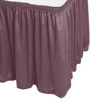 Snap Drape WYN1V17629-VIO Wyndham 17' 6 inch x 29 inch Violet Shirred Pleat Table Skirt with Velcro® Clips