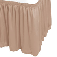 Snap Drape WYN1V17629-SBL Wyndham 17' 6 inch x 29 inch Sable Shirred Pleat Table Skirt with Velcro® Clips
