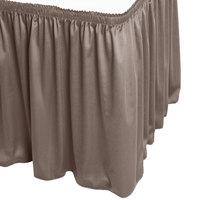 Snap Drape WYN1V17629-GRY Wyndham 17' 6 inch x 29 inch Gray Shirred Pleat Table Skirt with Velcro® Clips