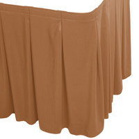 Snap Drape WYN5V1329-BTTR Wyndham 13' x 29 inch Butterscotch Continuous Pleat Table Skirt with Velcro® Clips