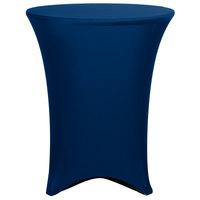 Marko EMB5026HT36062 Embrace 36 inch Round Cadet Blue Bar Height Spandex Table Cover