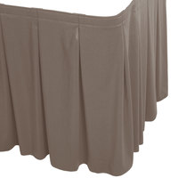 Snap Drape WYN5V1329-GRY Wyndham 13' x 29 inch Gray Continuous Pleat Table Skirt with Velcro® Clips