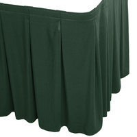 Snap Drape WYN5V1329-JDE Wyndham 13' x 29 inch Jade Continuous Pleat Table Skirt with Velcro® Clips