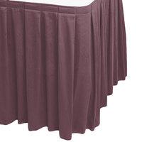 Snap Drape WYN3V1329-VIO Wyndham 13' x 29 inch Violet Box Pleat Table Skirt with Velcro® Clips