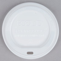 Eco Products EP-ECOLID-N20 20 oz. White Compostable Plastic Hot Cup Lid - 50/Pack