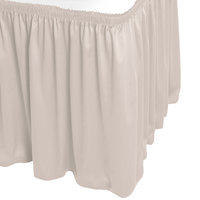 Snap Drape WYN1V17629-SC Wyndham 17' 6 inch x 29 inch Silver Cloud Shirred Pleat Table Skirt with Velcro® Clips