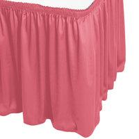 Snap Drape WYN1V17629-DUS Wyndham 17' 6 inch x 29 inch Dusty Rose Shirred Pleat Table Skirt with Velcro® Clips