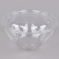 Eco Products EP-SB32 32 oz. Clear Compostable Plastic Salad Bowl with Lid - 50/Pack