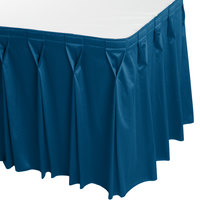 Snap Drape 5412CE29W3-710 Wyndham 13' x 29 inch Blueberry Bow Tie Pleat Table Skirt with Velcro® Clips