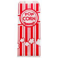 Carnival King 3 1/2 inch x 2 1/4 inch x 8 1/4 inch 1 oz. Popcorn Bag - 100/Pack