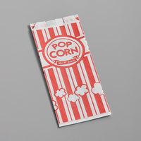 Carnival King 3 1/2 inch x 2 1/4 inch x 8 inch 1 oz. Popcorn Bag   - 100/Pack
