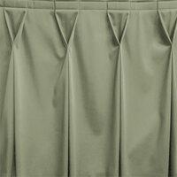 Snap Drape WYN6V1329-EUC Wyndham 13' x 29 inch Eucalyptus Bow Tie Pleat Table Skirt with Velcro® Clips