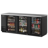 Turbo Air TBB-4SG 90 inch Three Glass Door Back Bar Refrigerator