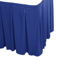 Snap Drape WYN5V1329-RBLU Wyndham 13' x 29 inch Royal Blue Continuous Pleat Table Skirt with Velcro® Clips