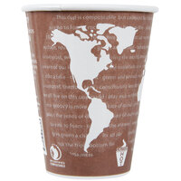 Eco Products EP-BNHC8-WD World Art 8 oz. Insulated Hot Cup - 40/Pack