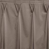 Snap Drape WYN6V1329-GRY Wyndham 13' x 29 inch Gray Bow Tie Pleat Table Skirt with Velcro® Clips