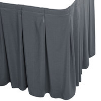 Snap Drape WYN5V1329-SLTB Wyndham 13' x 29 inch Slate Blue Continuous Pleat Table Skirt with Velcro® Clips