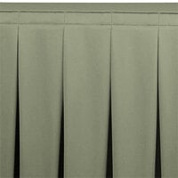 Snap Drape WYN5V21629-EUC Wyndham 21' 6 inch x 29 inch Eucalyptus Continuous Pleat Table Skirt with Velcro® Clips