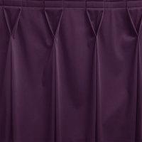 Snap Drape WYN6V17629-PURP Wyndham 17' 6 inch x 29 inch Purple Bow Tie Pleat Table Skirt with Velcro® Clips