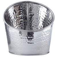 American Metalcraft HMSR6 6 inch Hammered Stainless Steel Angled Beverage Tub