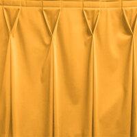 Snap Drape WYN6V17629-TOP Wyndham 17' 6 inch x 29 inch Topaz Bow Tie Pleat Table Skirt with Velcro® Clips
