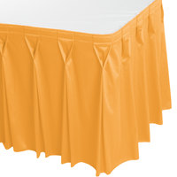 Snap Drape WYN6V17629-TOP Wyndham 17' 6 inch x 29 inch Topaz Bow Tie Pleat Table Skirt with Velcro® Clips