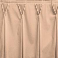 Snap Drape WYN6V17629-SNDL Wyndham 17' 6 inch x 29 inch Sandalwood Bow Tie Pleat Table Skirt with Velcro® Clips