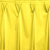Snap Drape WYN6V17629-SUN Wyndham 17' 6 inch x 29 inch Sunflower Bow Tie Pleat Table Skirt with Velcro® Clips