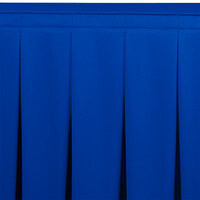 Snap Drape WYN5V21629-RBLU Wyndham 21' 6 inch x 29 inch Royal Blue Continuous Pleat Table Skirt with Velcro® Clips