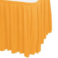 Snap Drape 5412EG29B3-751 Wyndham 17' 6 inch x 29 inch Topaz Box Pleat Table Skirt with Velcro® Clips