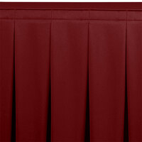 Snap Drape WYN5V21629-WIN Wyndham 21' 6 inch x 29 inch Wine Continuous Pleat Table Skirt with Velcro® Clips