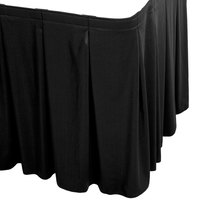 Snap Drape 5412EG29C2-014 Wyndham 17' 6 inch x 29 inch Black Continuous Pleat Table Skirt with Velcro® Clips