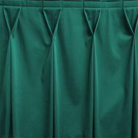Snap Drape WYN6V17629-TEAL Wyndham 17' 6 inch x 29 inch Teal Bow Tie Pleat Table Skirt with Velcro® Clips