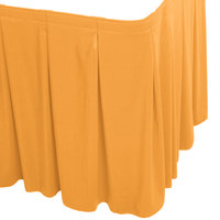 Snap Drape WYN5V17629-TOP Wyndham 17' 6 inch x 29 inch Topaz Continuous Pleat Table Skirt with Velcro® Clips