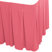 Snap Drape 5412EG29C2-050 Wyndham 17' 6 inch x 29 inch Dusty Rose Continuous Pleat Table Skirt with Velcro® Clips