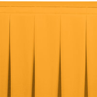Snap Drape WYN5V21629-TOP Wyndham 21' 6 inch x 29 inch Topaz Continuous Pleat Table Skirt with Velcro® Clips