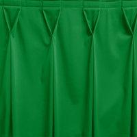 Snap Drape WYN6V17629-KG Wyndham 17' 6 inch x 29 inch Kelly Green Bow Tie Pleat Table Skirt with Velcro® Clips