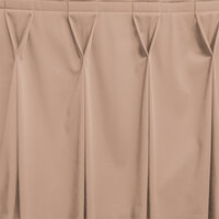 Snap Drape WYN6V17629-SBL Wyndham 17' 6 inch x 29 inch Sable Bow Tie Pleat Table Skirt with Velcro® Clips