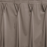 Snap Drape WYN6V17629-GRY Wyndham 17' 6 inch x 29 inch Gray Bow Tie Pleat Table Skirt with Velcro® Clips
