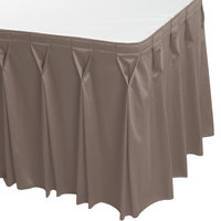 Snap Drape WYN6V17629-GRY Wyndham 17' 6 inch x 29 inch Gray Bow Tie Pleat Table Skirt with Velcro® Clips