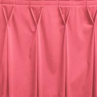 Snap Drape WYN6V17629-DUS Wyndham 17' 6 inch x 29 inch Dusty Rose Bow Tie Pleat Table Skirt with Velcro® Clips