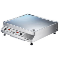 Garland SH/DU/GR 10000 25 13/16 inch Dual Countertop Induction Griddle - 208V, 3 Phase, 10 kW